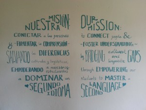 Mission Statement on wall