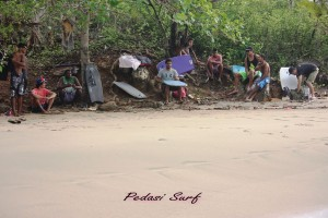 picture of Pedasi local kids at beach